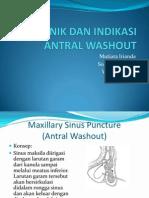 Teknik Dan Indikasi Antral Washout