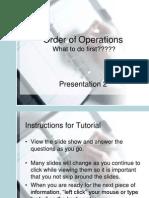 Order of Operators