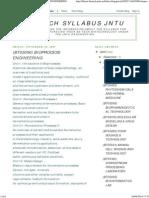 Biotech Syllabus Jntu_ (Bt05096) Bioprocess Engineering