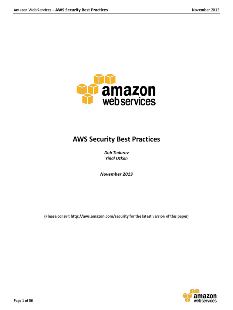 AWS Security Best Practices | Cloud Computing | Information