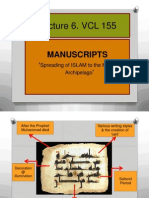 Lecture 6. VCL 155 Quran and Manuscripts