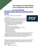 Bahan Baku Dan Proses Pengolahan Minyak Di Pertamina Ru III