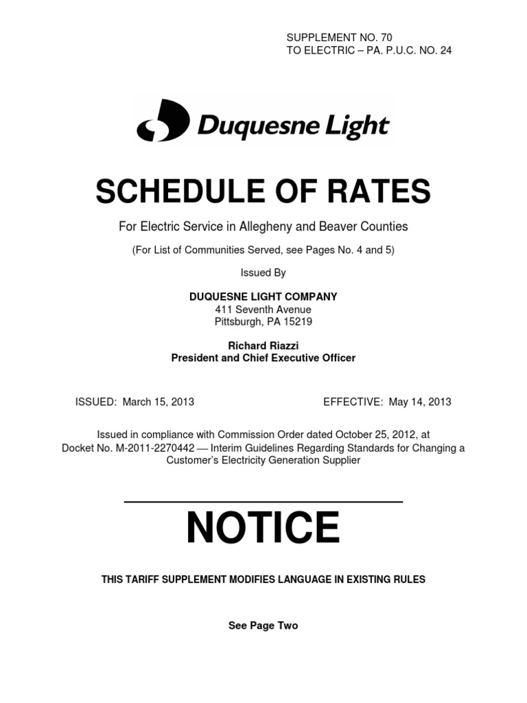 Duquesne Light Co State Tax Adjustment | Electric Power Distribution | Taxes