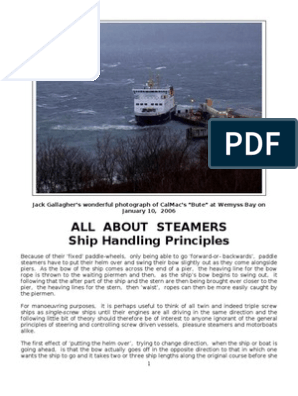 All About Steamers - Ship Handling Principles | Ships