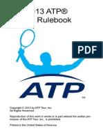 2013 ATP Rulebook 8apr13 for Posting