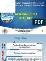 Aquifer Mapping Pilot Programme Outcome of Pilot Areas Geo Physical Investigations