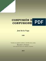 De La Vega Confusion de Confusiones