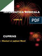 Curs 3 Informatică Medicală Și Biostatistică 2