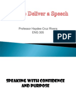how to deliver a speech eng 331