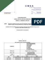 FC Rad Onc(SA) Part II Timetable 6-5-2014