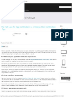 The Fast Lane for App Certification_ 12 Windows Store Certification Tips