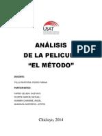 Análisis Pelicula El Metodo