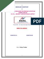 36453034 Final Bsnl Report NEW NEW NEW