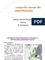 Analiza Asezarilor Umane Din Statul Romania
