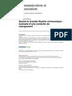 Communicationorganisation 3349 28 Quand La Grande Muette Communique Exemple d Une Conduite de Changement (1)