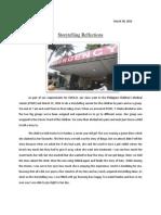 Reflection Paper- Storytelling