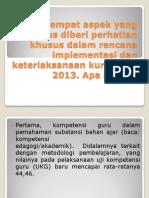 4 Aspek Keterlaksanaan Kurikulum 2013