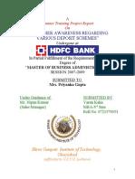 Customer Awareness Regarding Various Deposit Schemes Hdfc Bank 2011