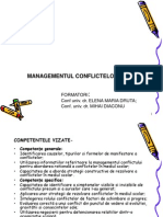 Prezentare Managementul conflictelor