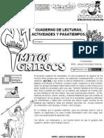Mitos Griegos, Cuaderno de Lecturas, Actividades y Pasatiempos