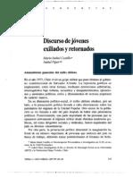 Discurso Jovenes Exiliados y Re Tornados . CHILE
