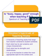 Moss Ton Teaching Styles