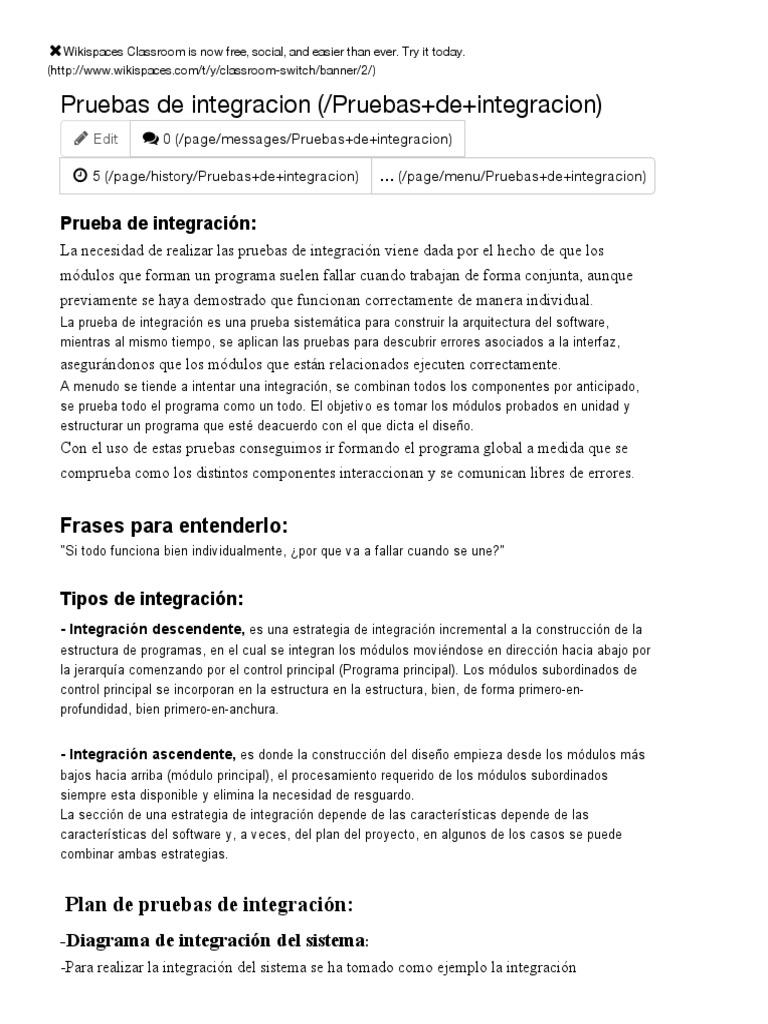 Analisis1DAID - Pruebas de Integracion