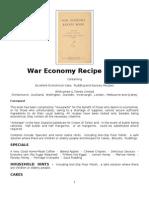 War Economy Recipe Book