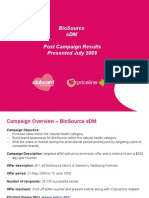 BioSource eDM Post Campaign Results Presented July 2009