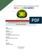 Determinación Del Calor de Dilución y Neutralización