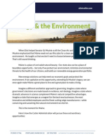 Cutler's Energy and Environment press packet