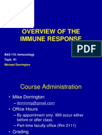 Topic 1 - Intro and Overview of the Immune Response