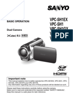 Sanyo Xacti Vpc-sh1ex User Manual