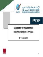 CGEM BAROMETRE de CONJONCTURE Rapport Des Résultats de Le 2e Vague 1er Trimestre 2014