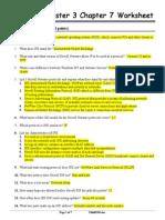 CISCO Semester 3 Chapter 7 Worksheet Answer Key