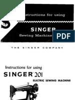 Singer 201-2 Manual