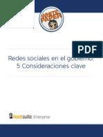 Redes Sociales en El Gobierno - 5 Consideraciones Clave