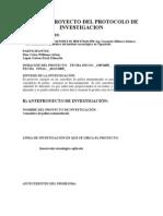 Anteproproyecto Del Protocolo de Investigacion