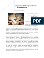 El Sexo Como Obligación Social. La Supuesta Libertad Sexual y La Norma