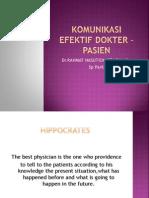 Komunikasi Efektif Dokter - Pasien