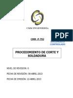 Cmm-p-752 Procedimiento Para Corte y Soldadura