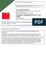 Ben-Porath, Eran N - Internal Fragmentation of the News