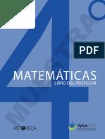 Libro Profesor Matematicas 4º