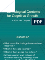 Technological Contexts for Cognitive Growth -- Outline