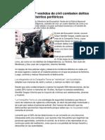 Efectivos PNP Vestidos de Civil Combaten Delitos Menores en Distritos Periféricos