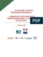 2008 Resultats Enquete Sociolinguistique Aquitaine
