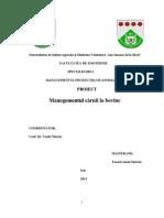 proiect managementul carnii