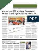 Inician 300 Mil Juicios a Firmas Que No Realizaron Aportaciones a AFP_Gestión 6-05-2014
