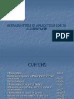 Ultrasunetele Si Aplicatiile Lor in Alimentatie