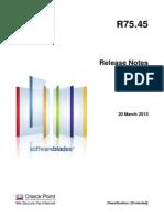 CP R75.45 ReleaseNotes